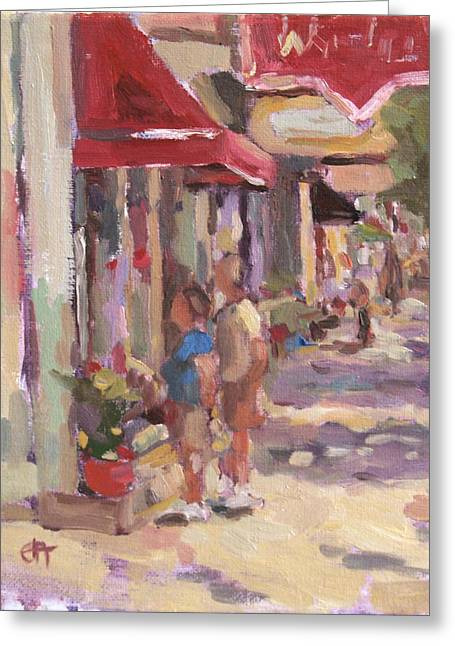 Window Shopping Greeting Card by Jenny Anderson