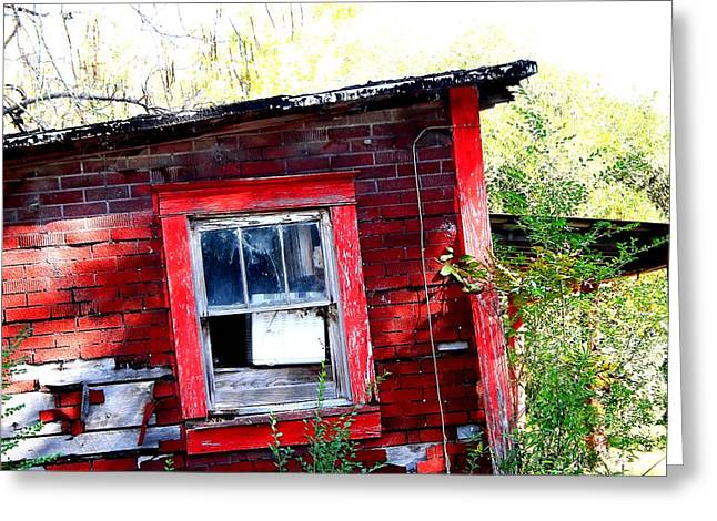 Window To The Abandoned World Greeting Card