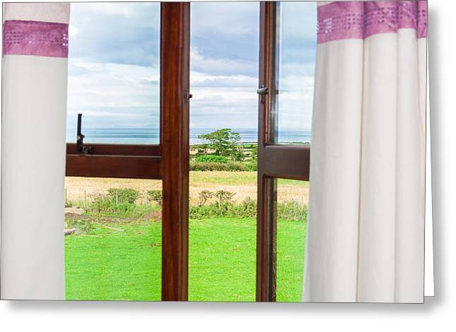 Window View Greeting Card by Semmick Photo