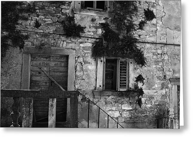 Greeting Card featuring the photograph Crumbling In Croatia by Andy Prendy