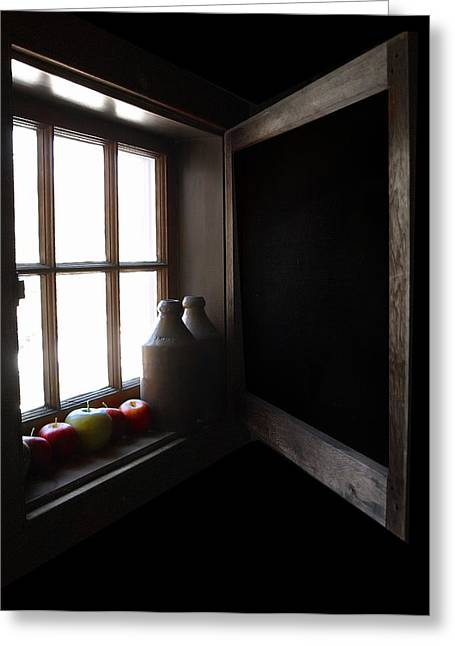 Greeting Card featuring the photograph Windowsill by Raymond Earley