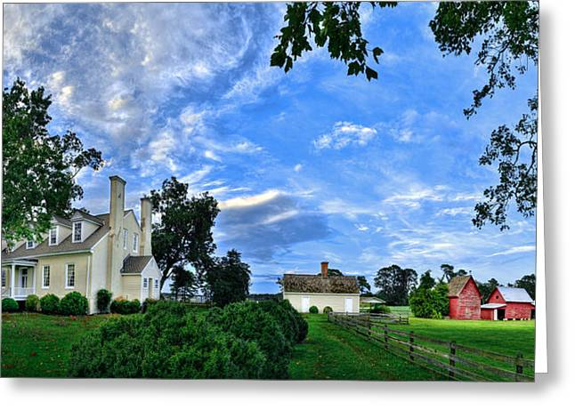 Windsor Castle Smithfield Va Greeting Card by Williams-Cairns Photography LLC