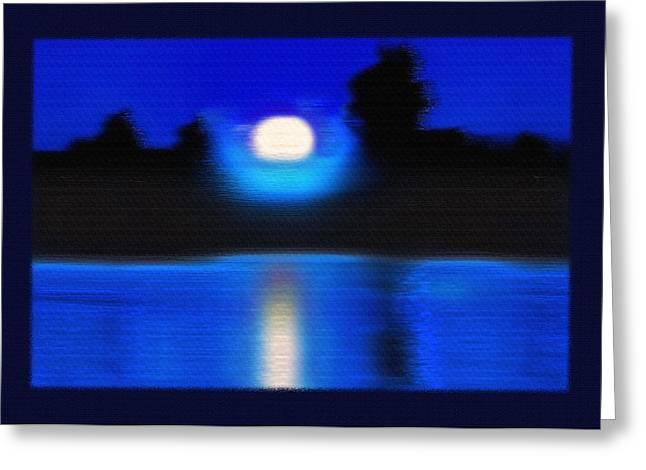 Windswept Moonrise  Greeting Card by Steve Ohlsen