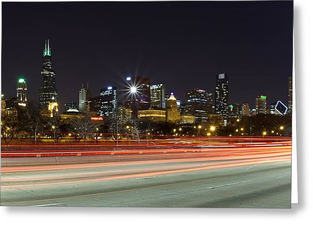 Windy City Fast Lane Greeting Card
