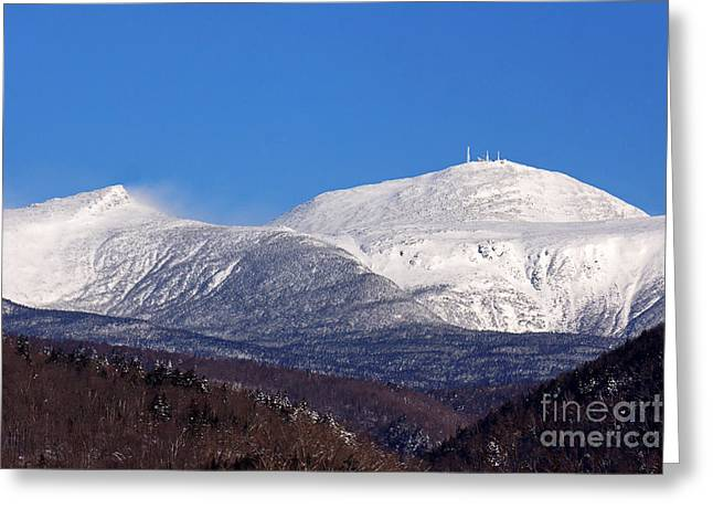 Windy Day At Mt Washington Greeting Card