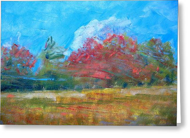 Windy Day Greeting Card by Lisa Dionne