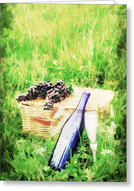 Wine 4 Two Greeting Card by Darren Fisher