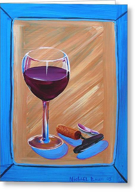 Wine And Cork Greeting Card
