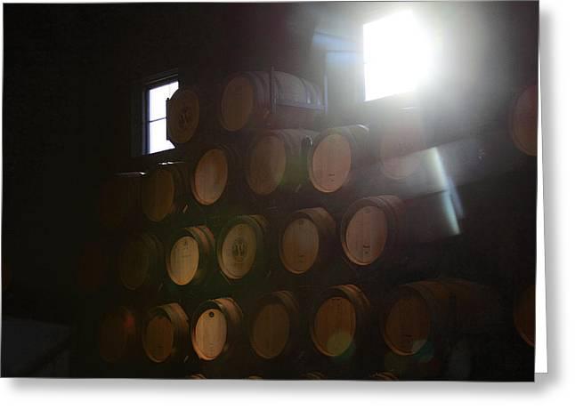 Wine Barrels Greeting Card by Viktor Savchenko