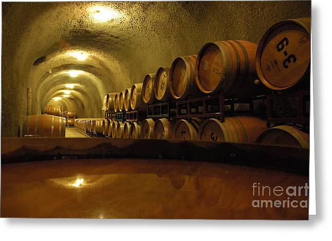 Wine Cellar Greeting Card by Micah May