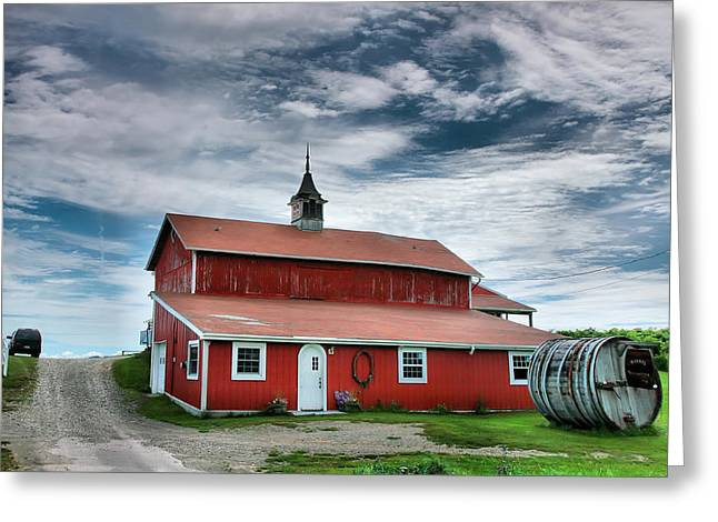 Wine Country Barn II Greeting Card