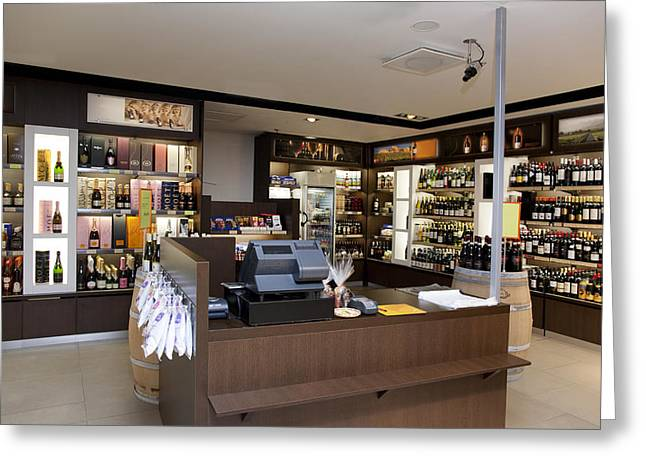 Wine Food And Luxury Goods Retail Greeting Card by Jaak Nilson