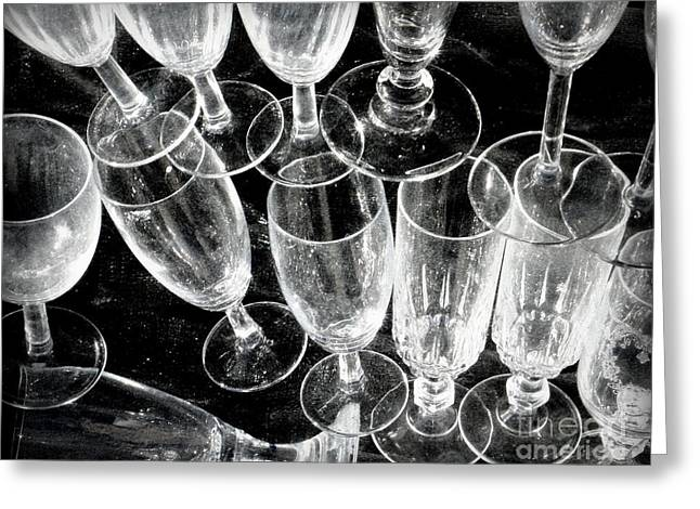 Wine Glasses Greeting Card by Lainie Wrightson