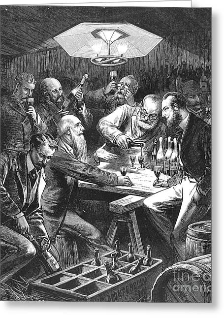 Wine Tasting, 1876 Greeting Card