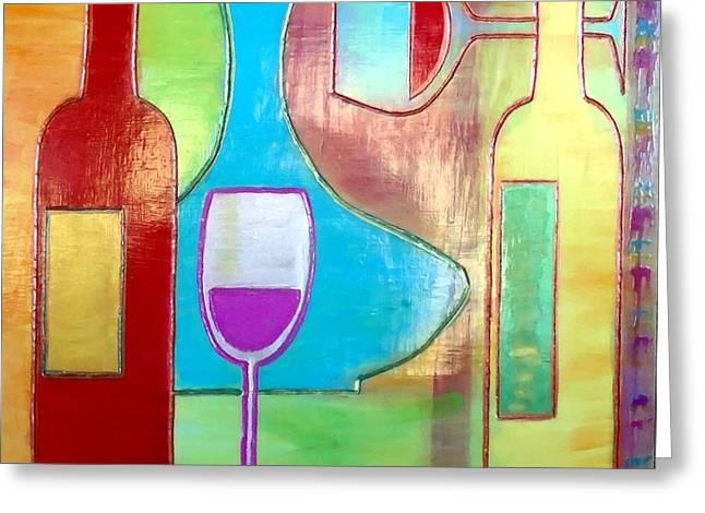 Wine Tasting Greeting Card by Char Swift