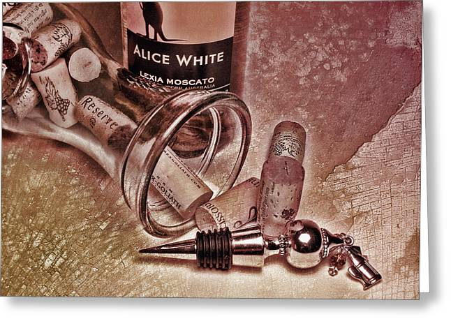 Wine Texture Greeting Card by Peter Chilelli