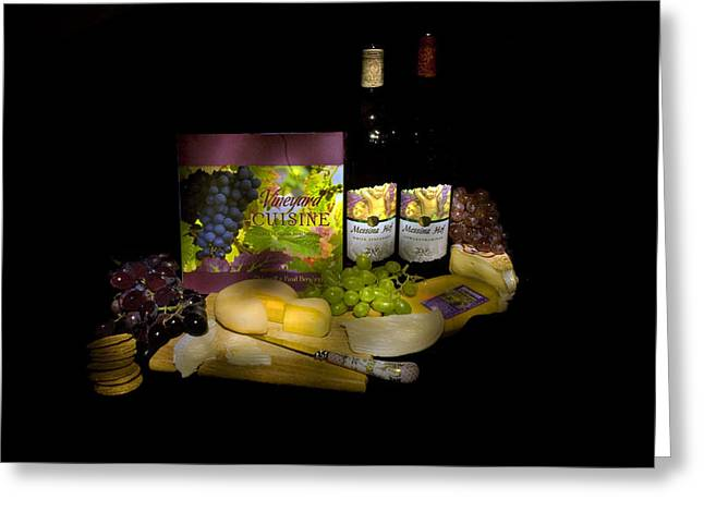 Wine Time Greeting Card by Stan Williams