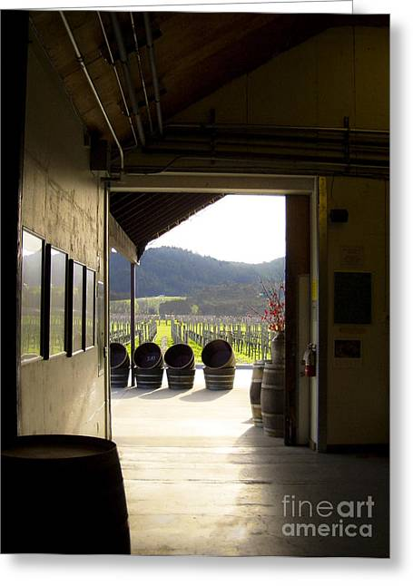 Greeting Card featuring the photograph Wineries by Leslie Hunziker