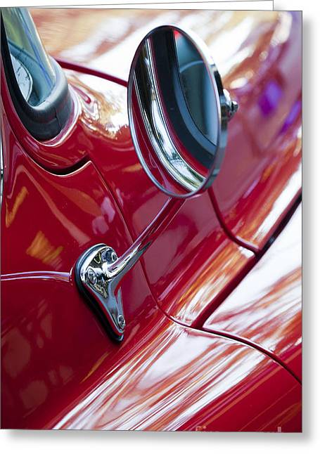 Wing Mirror Greeting Card by Chris Dutton