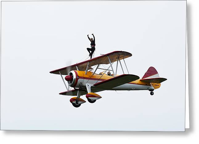 Wing Walker Greeting Card by Sara Hudock