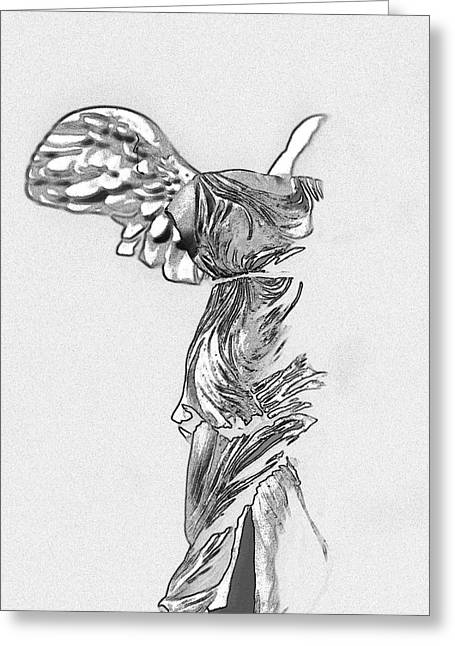 Winged Victory Of Samothrace Greeting Card by Manolis Tsantakis