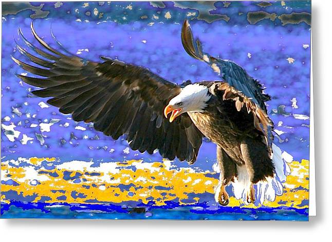 Wings On High Greeting Card by Carrie OBrien Sibley