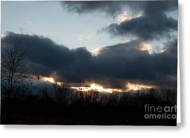 Winter Afternoon Clouds Greeting Card by Gary Chapple