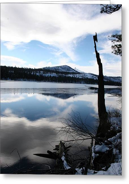 Winter At The Lake Greeting Card by Ken Riddle