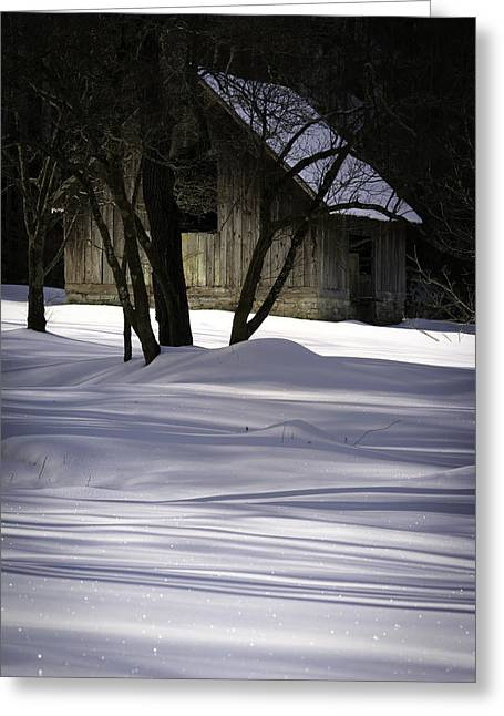 Winter Barn Greeting Card by Rob Travis