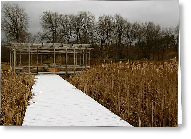 Winter Boardwalk Greeting Card