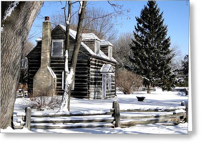 Winter Cabin 1 Greeting Card