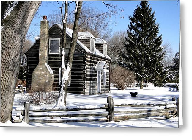 Winter Cabin 1 Greeting Card