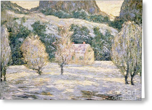 Winter Greeting Card by Ernest Lawson