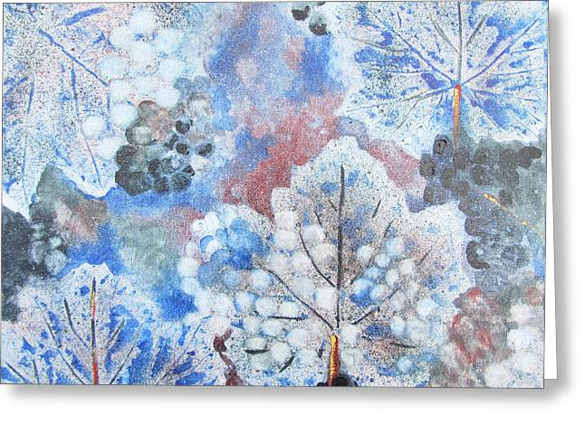 Greeting Card featuring the painting Winter Grapes I by Karen Fleschler