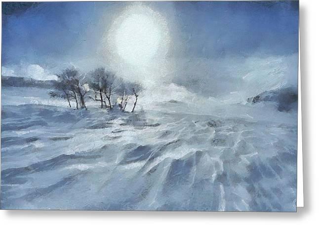 Winter Greeting Card by Gun Legler