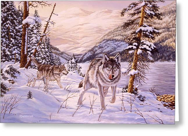 Winter Hunt Greeting Card