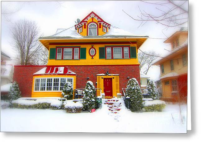 Winter In Ditmas Park Greeting Card