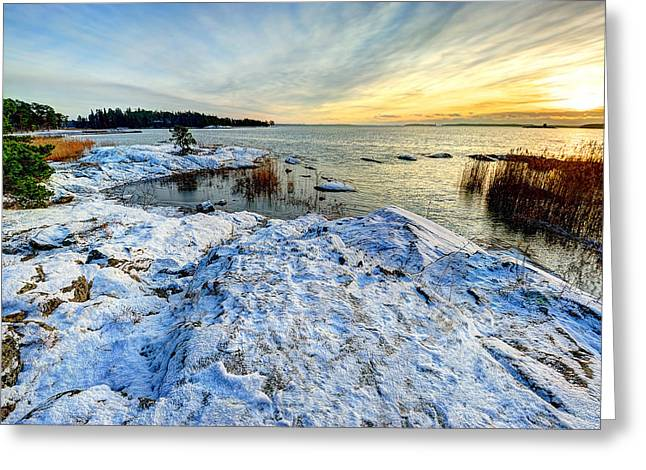Winter In Finland Greeting Card by Roman Rodionov