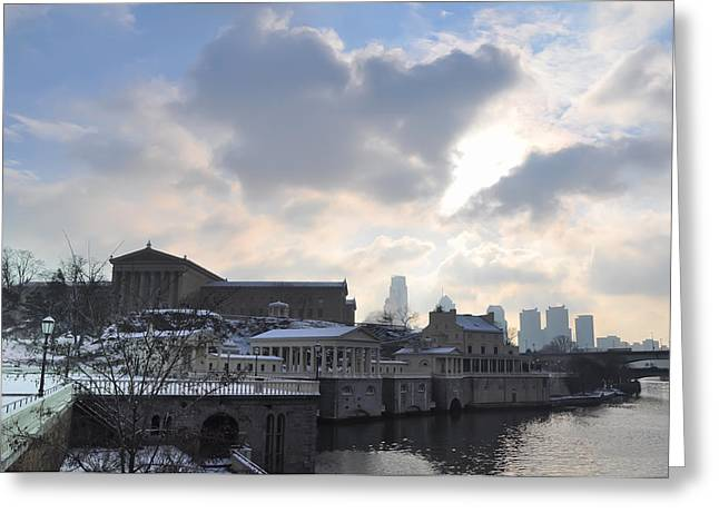 Winter In Philly Greeting Card by Bill Cannon