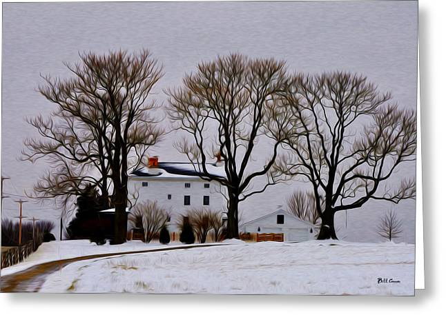 Winter In Whitemarsh Greeting Card by Bill Cannon