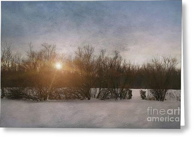 Winter Landscape  Greeting Card by Sandra Cunningham