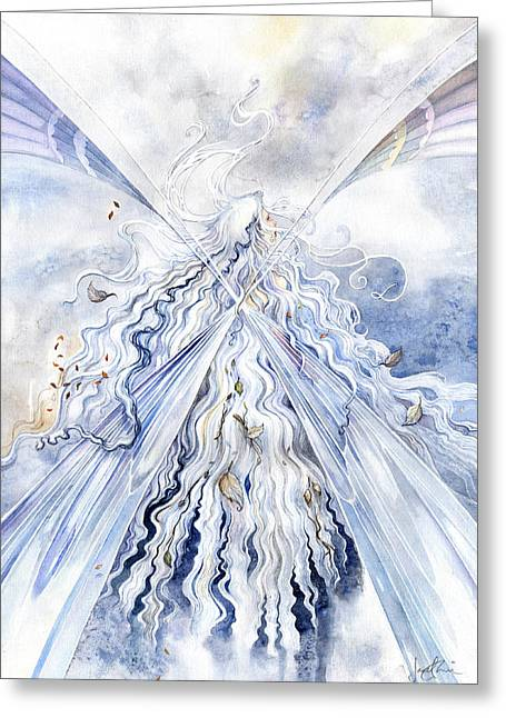 Winter Light Greeting Card by Janet Chui