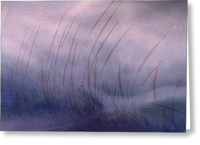 Greeting Card featuring the painting Winter Long Grass by Jean Moore