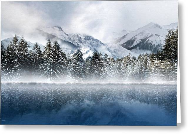 Winter Mist Greeting Card by Svetlana Sewell