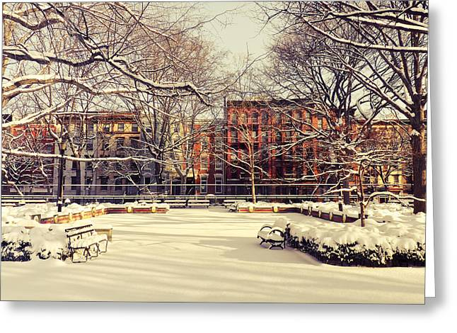 Winter - New York City Greeting Card