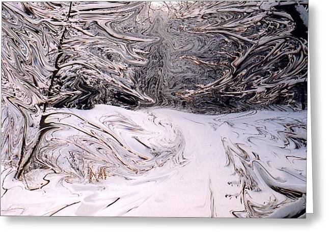 Greeting Card featuring the mixed media Winter On Mount Nemo by Bruce Ritchie