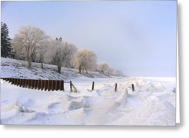 Winter On The Beach At Brights Grove Greeting Card by Bruce Ritchie