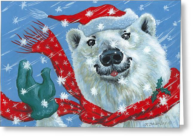 Winter Really Is A Blast Greeting Card by Richard De Wolfe