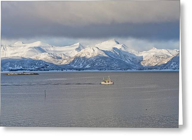 Winter Sea Greeting Card by Frank Olsen
