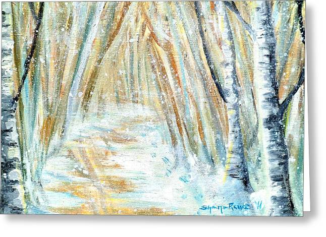 Greeting Card featuring the painting Winter by Shana Rowe Jackson